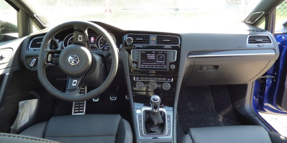 VW Golf R interior