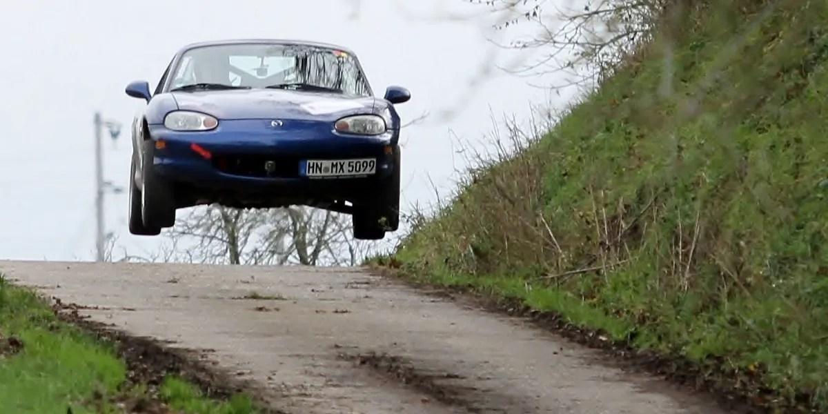 Miata rally jump