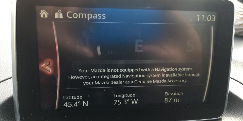 Mazda 3 lack of nav