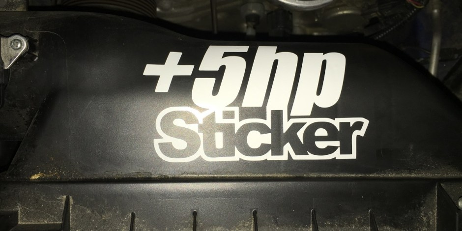 +5hp sticker
