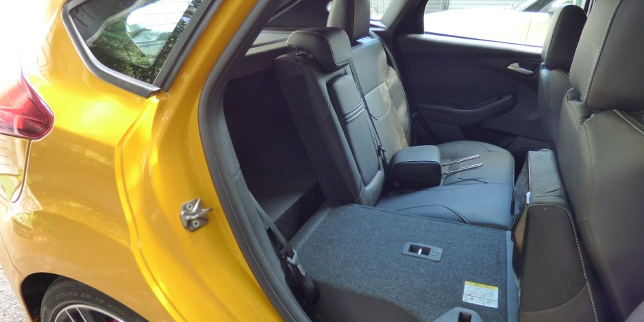 Ford Focus back seat folds almost flat