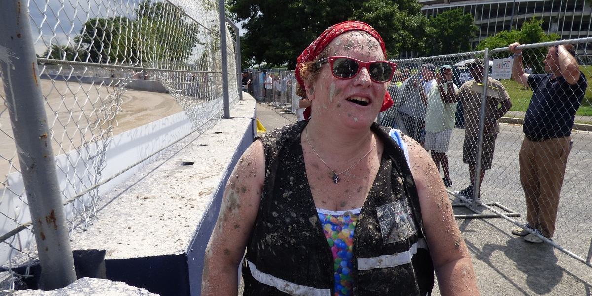 Covered in mud