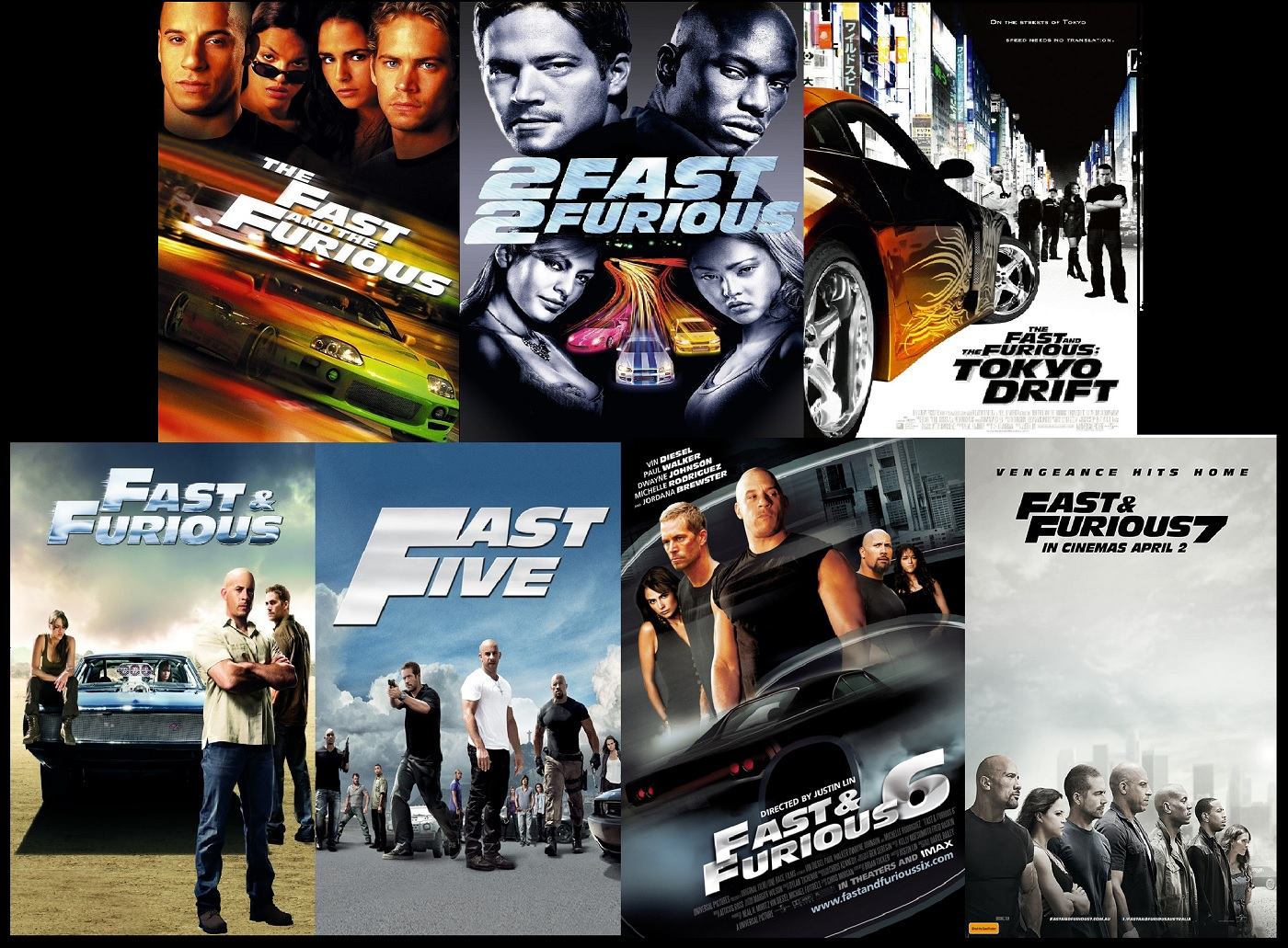 every fast and furious movie ranked right foot down. Black Bedroom Furniture Sets. Home Design Ideas