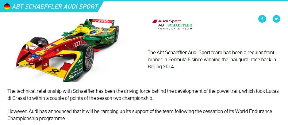 Audi in Formula E