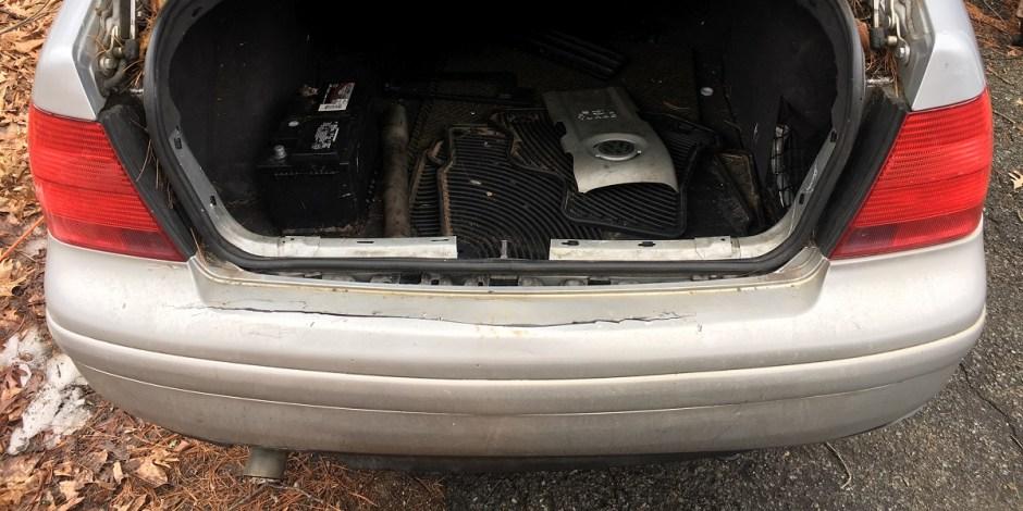 2003 VW Jetta rear bumper damage