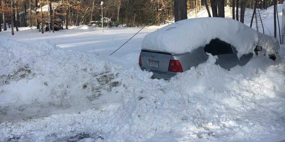 VW Jetta buried in snow