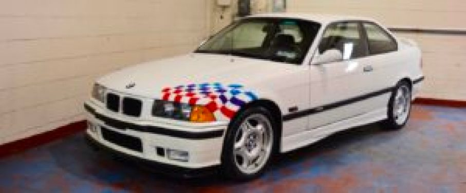 BMW E36 M3 Lightweight - Love that racing flag!