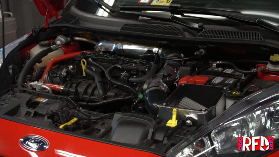 Modified Ford Fiesta ST Engine Bay
