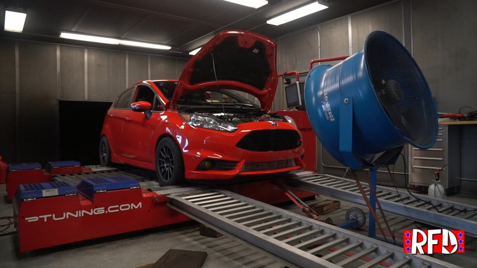 Red Ford Fiesta ST on Dyno