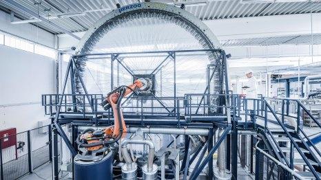 Porsche Braided Carbon Fiber Wheel Manufacturing