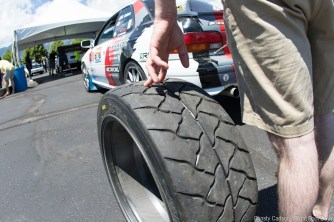 Hand-done tread for legality. Photo from Tech Inspection.