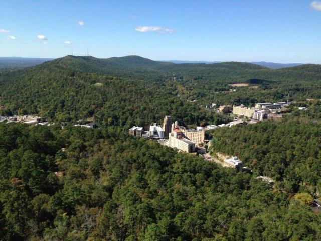 Hot Springs as seen from the Mountain Tower