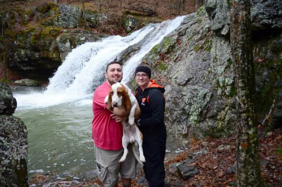 My brother and sister-in-law at the falls.