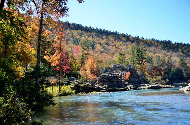 Winding Stairs trail in southwest Arkansas. The Little Missouri River offers some of the most breathtaking hiking in the state.