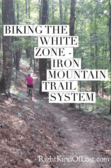 Mountain Biking The White Zone on the Iron Mountain Trail System on Degray Lake in Caddo Valley, Arkansas