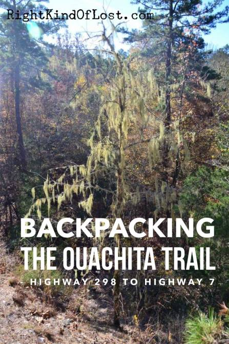 Arkansas hiking: Backpacking the Ouachita Trail from Highway 298 to Highway 7, is my favorite part of the OT because of its beautiful views and vistas.