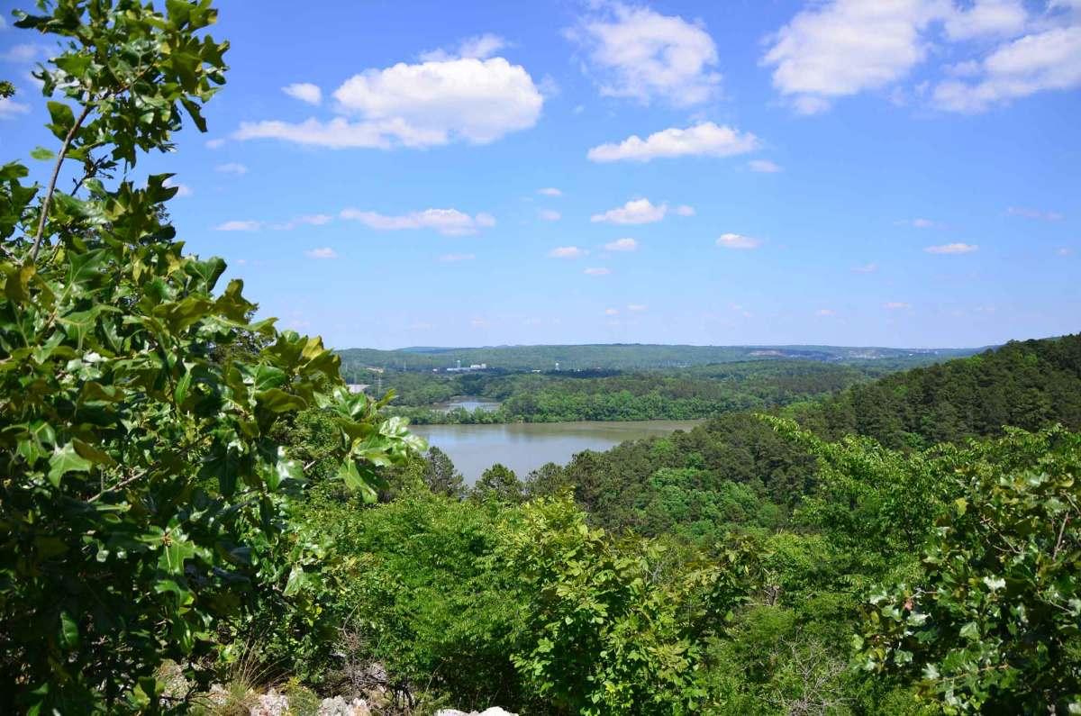 Hiking the Horseshoe Mountain Trail at Lake Catherine State Park in southwest Arkansas.