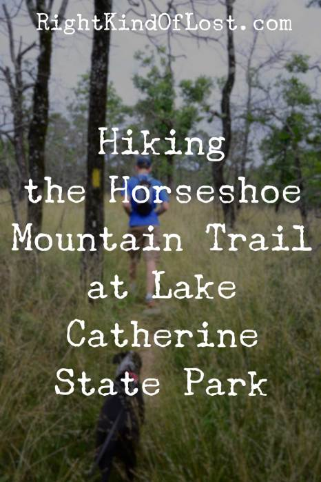 Hiking the Horseshoe Mountain Trail at Lake Catherine State Park in southwest Arkansas.