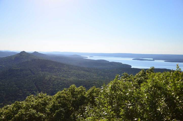 Climbing to the top of Pinnacle Mountain, one of the hardest trails in Arkansas. Pinnacle Mountain State Park is west of Little Rock and a great trail for someone wanting a workout climb.