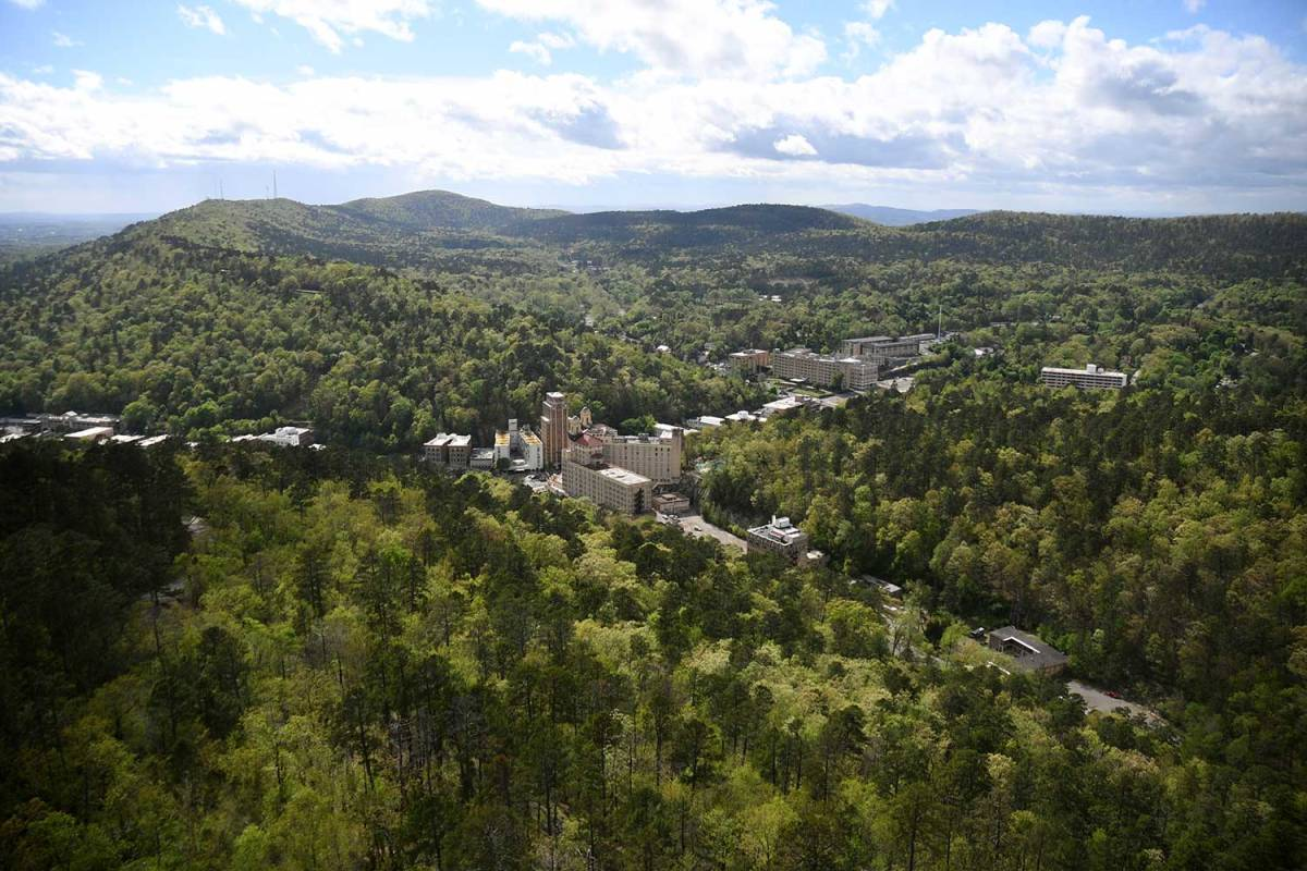 I believe Hot Springs is the best outdoor town in Arkansas, because it offers so much fun outdoor activities so close at hand.