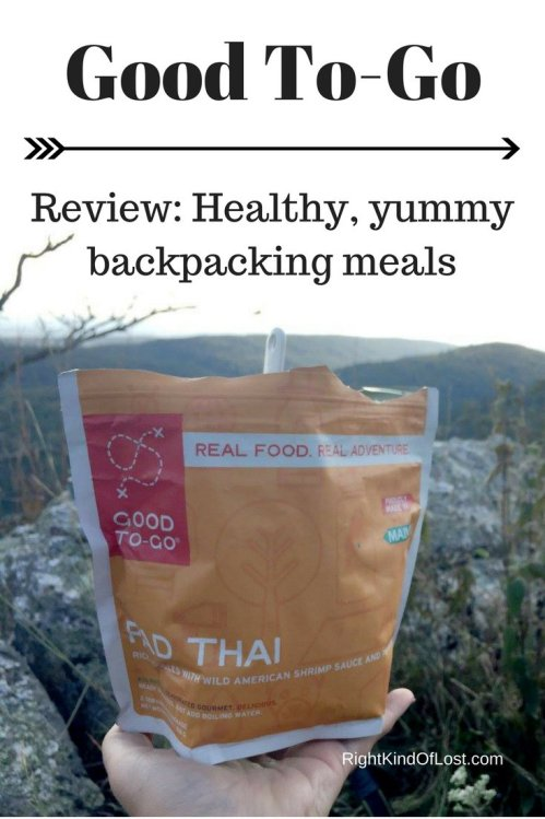 Good To-Go meals are a healthy and yummy backpacking meal if you don't have time to dehydrate your own meals.