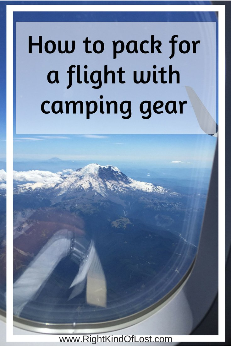 Flying with camping gear. How to pack for a flight and what to take when you chose to fly to your hiking, backpacking, and/or camping destinations.