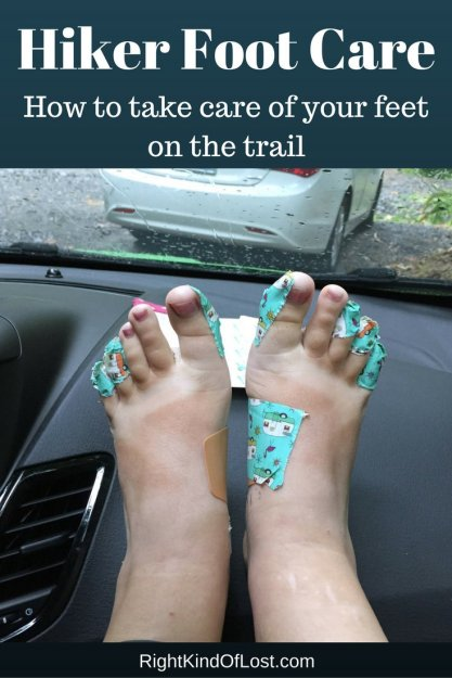 Hiker foot care – how to take care of your feet before and during your hike to prevent blisters, swelling, and other types of pain.