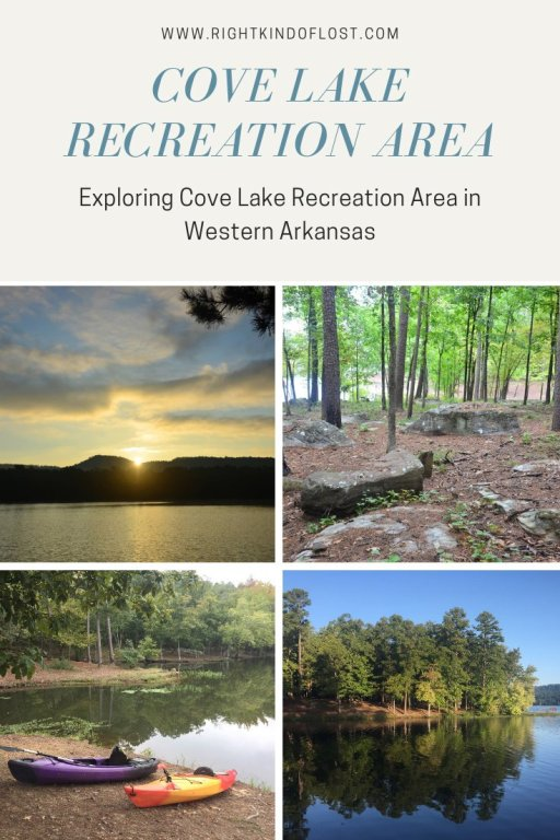 Cove Lake Recreation Area – a great Arkansas park for a relexing camping trip with kayaking, swimming, fishing, hiking, and more.