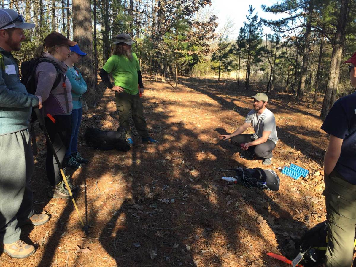 Learning Leave No Trace Principle No. 3 in the field.