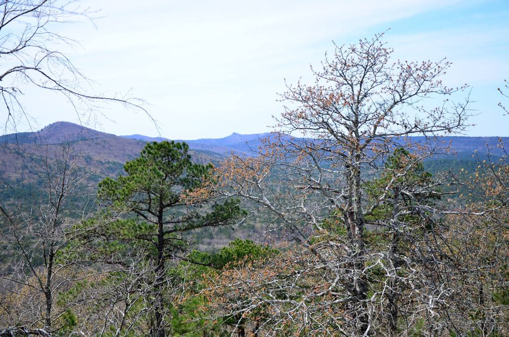 Views of the valley of Lake Sylvia is shown as you get close to the top of Chinquapin Mountian