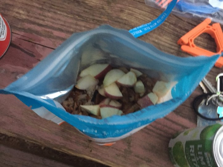 Bag meals are great for Leave No Trace Prinicple 3