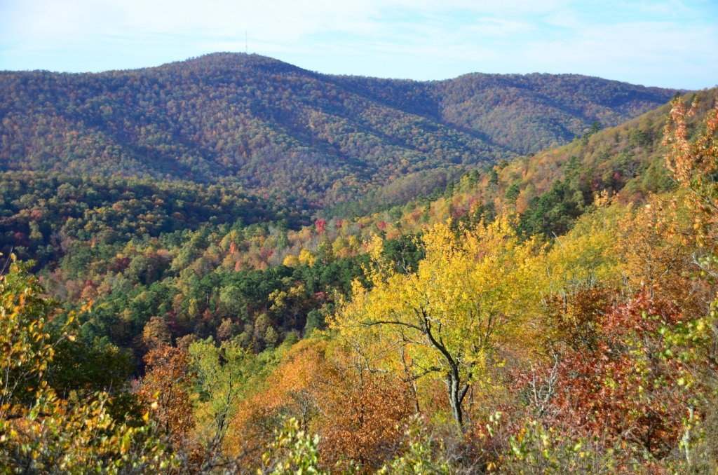 Buckeye Mountain provides amazing views, especially in autumn