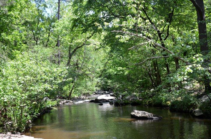 Cedar Creek is shown along the Canyon Trail