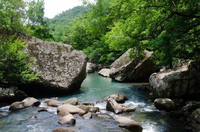 Richland Creek is shown