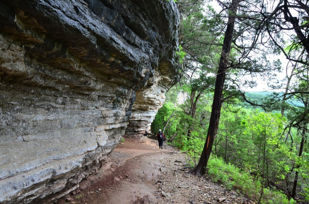 The Goat Trail begins its path along Big Bluff