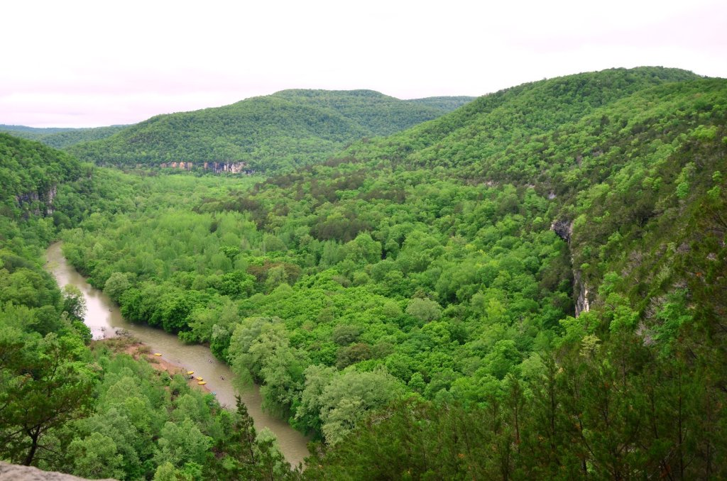 The Buffalo National River is shown from the trail