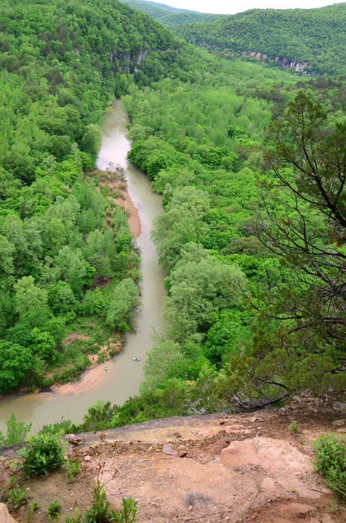 The Buffalo River is seen from the Big Bluff along the Goat Trail