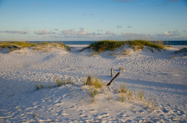 The dunes are shown at Gulf Islands National Seashore