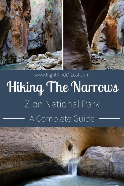 Day hiking The Narrows at Zion National Park is a wonderful way to explore the slot canyons, the Virgin River, and the wonders of the park.