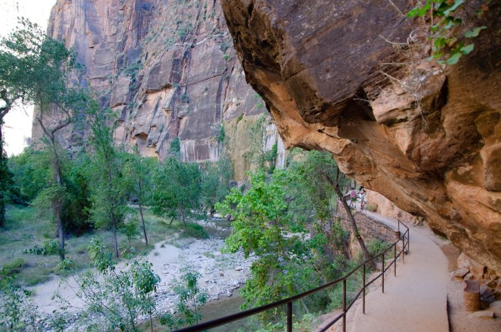 The Riverside Walk is shown at Zion National Park