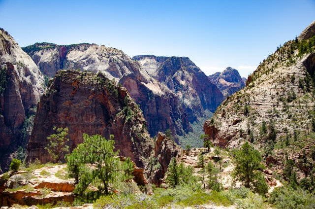 Angel's Landing along the West Rim Trail at Zion National Park is shown