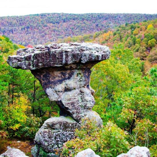 Hiking Pedestal Rocks Kings Bluff loops in the Ozark National Forest in Arkansas