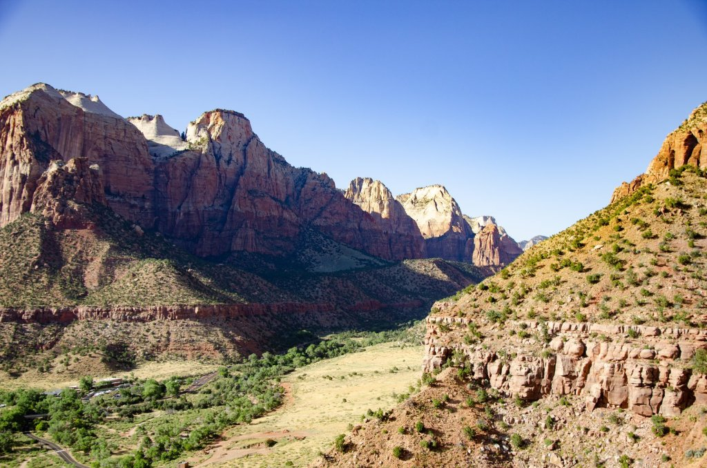 An wonderful view of Zion Canyon