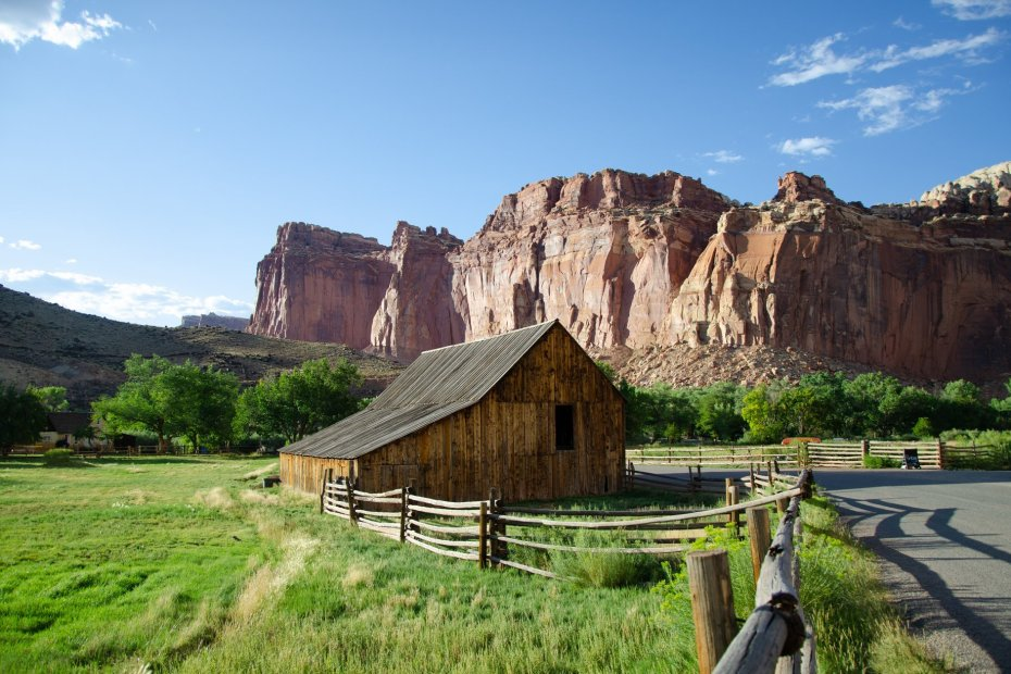 Capitol Reef National Park is shown along the road trip for Utah's Mighty Five