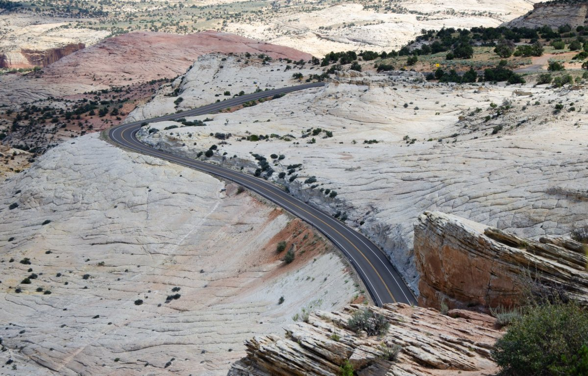 Grand Staircase-Escalante National Monument is shown along the road trip for Utah's Mighty Five