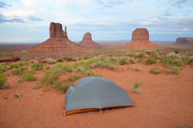 A tent shown at Monument Valley Navajo Tribal Park