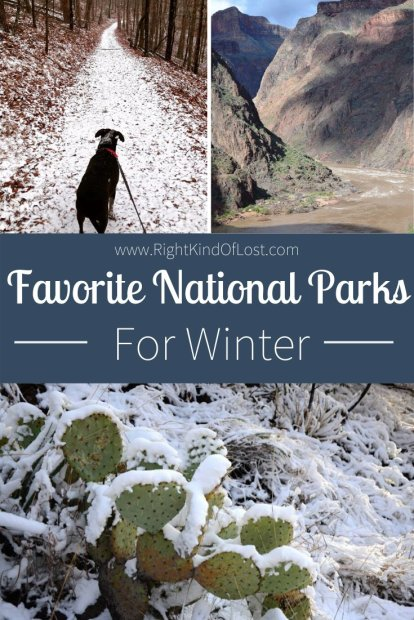 Don't let the cold keep you indoors during the wintertime. Check out these four national parks that are my favorite national parks to visit in winter.