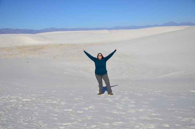 Hiking at White Sands National Park