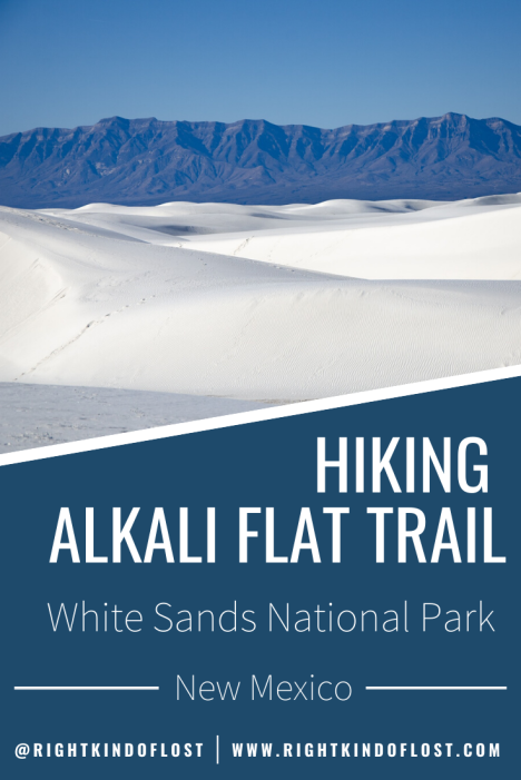 Hiking the Alkali Flat Trail at White Sands National Park is a great way to immerse yourself in the vast sea of white sand at this unique place.