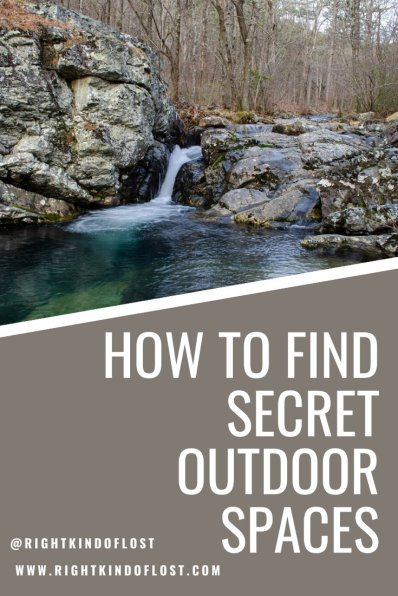Finding secret outdoor spaces where you get away from people is good for the soul. It provides a wonderful way to unplug from life and rejuvenate in nature.